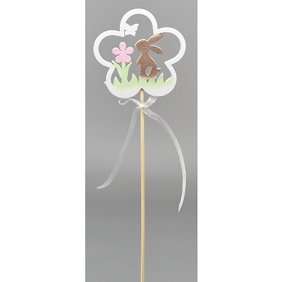 Dřevěný zápich kytička