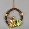 Velikonoční věneček z proutí s dekorací