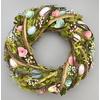 Velikonoční ratanový věnec s dekorací