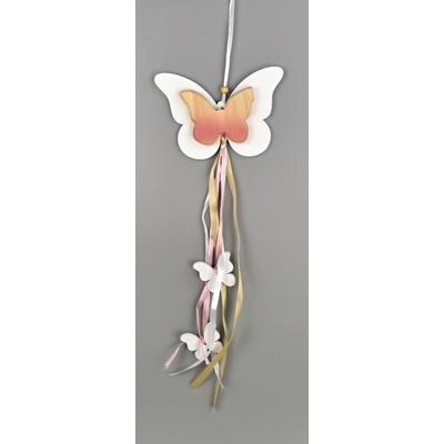 Motýl dřěvený na zavěšení