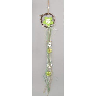Dřevěná závěsná dekorace kytka